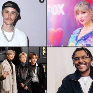 La participación de Justin Bieber, The Weeknd y BTS en los AMA's 2020