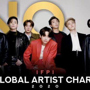 BTS se convierte en el primer artista asiático en liderar el Global Recording Artist Of The Year de IFPI